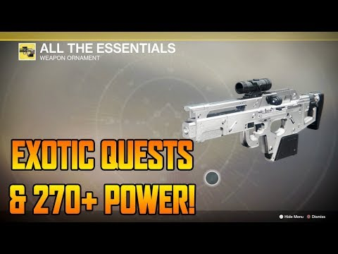 DESTINY 2 - EXOTIC WEAPON QUESTS & 270+ LIGHT POWER! (Destiny 2 Gameplay)