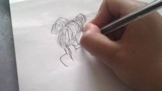 How to draw a messy bun totorial