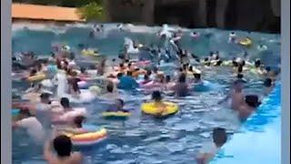 "Wave pool transformed into ""tsunami"" In China"