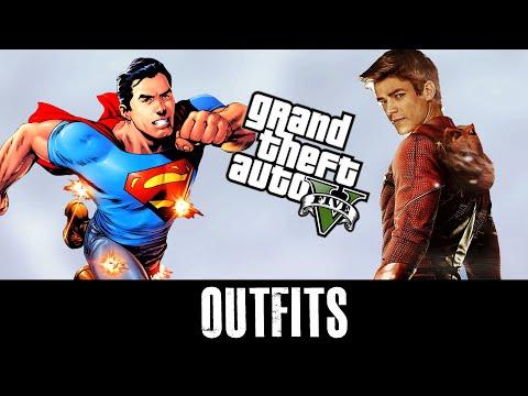 GTA 5 Online - Outfits (Superman, Flash & Arrow)