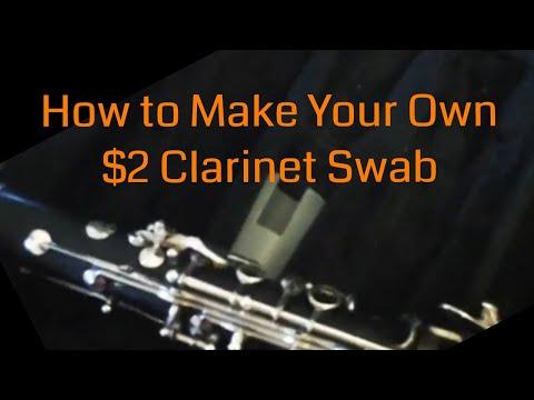 DIY $2 Microfiber Clarinet Swab!