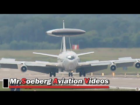Boeing E3A AWACS, 'LX-N90456', Arrival Geilenkirchen