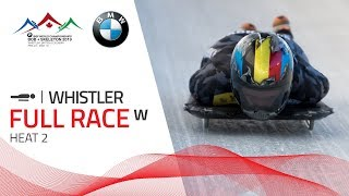 Whistler | BMW IBSF World Championships 2019 - Women's Skeleton Heat 2 | IBSF Official