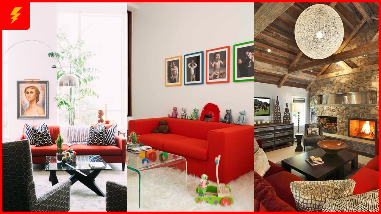 red sofa design living room prints for 18 stunning and decor ideas youtube