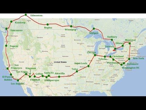 North America round trip
