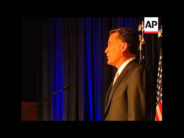 Governor Mitt Romney drops out of the 2008 Republican Presidential Race