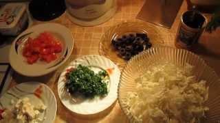 Мои любимые салаты - Салат из пекинской капусты с помидорами, сыром фета и маслинами.