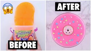 EXTREME STORE BOUGHT SLIME MAKEOVER CHALLENGE *fixing $5 cheap slime*