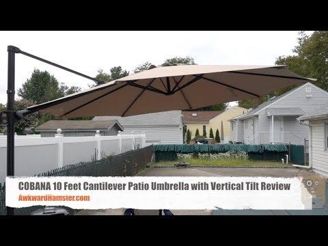 COBANA 10 Feet Cantilever Patio Umbrella with Vertical Tilt Review - COBANA 10 Feet Cantilever Patio Umbrella With Vertical Tilt Review