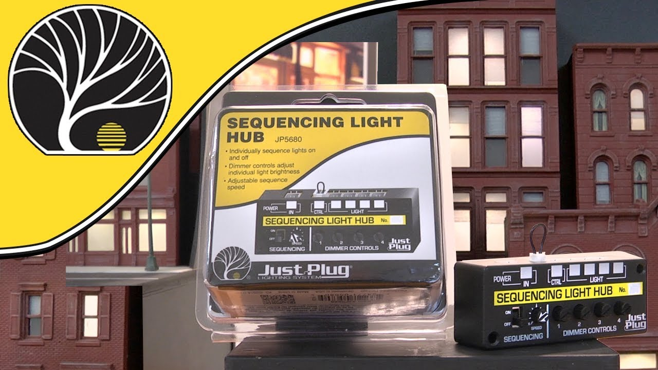 Sequencing Light Hub | Just Plug® Lighting System | Woodland Scenics |  Model Scenery