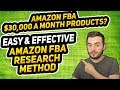 EASIEST AMAZON FBA PRODUCT RESEARCH TECHNIQUE