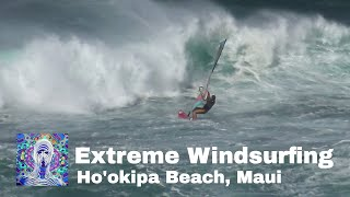 Challenging day Windsurfing at Ho'okipa