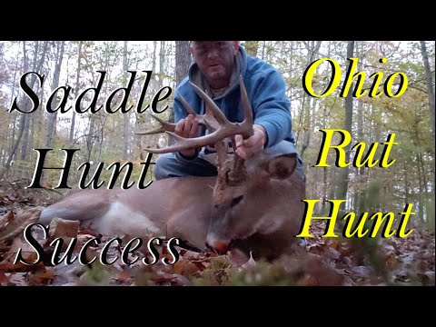 Big Buck Down ! Self Filming From A Saddle . Southern Ohio Rut Hunt With Bullman Outdoors