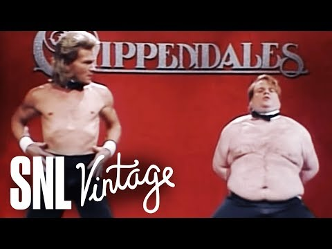 Heather Burnside - #TBT Patrick Swayze And Chris Farley Battle To Be A Chippendale's Dancer