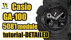 ab5586131 G Shock GA 100 (module 5081) User manual and a VERY detailed functions  overview - Duration: 24:19. Watch Geek