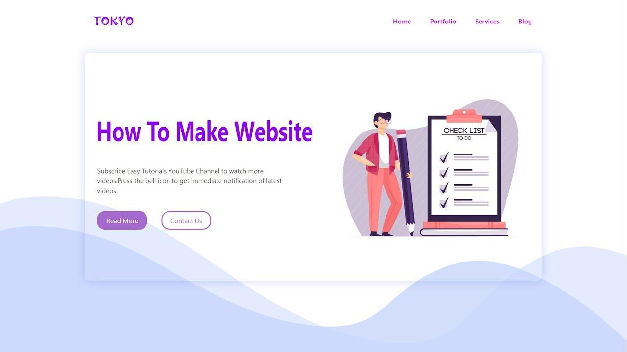 How To Create Website Using HTML CSS Bootstrap | Responsive Website  Development Tutorials