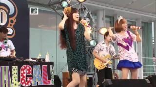 HALCALI Konya Wa boogie Back Live MTV in front of a Swimming-Pool.