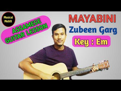 Mayabini Ratir Bukut | Zubeen Garg | Assamese guitar lesson