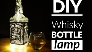 DIY whisky bottle lamp