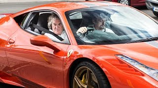 James May takes Richard Hammond for a ride in his Ferrari!!