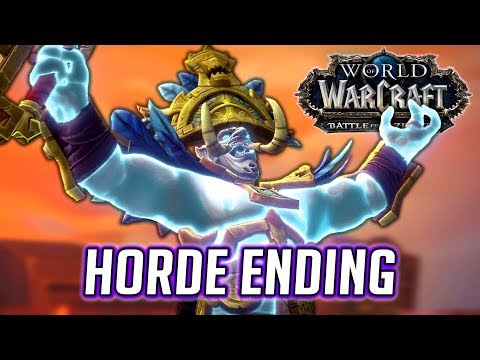 WOW BFA HORDE ENDING: Zul and The Old God VS. Rastakhan and The Loa (For Zandalar! Scenario)