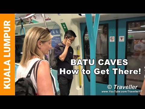 Batu Caves - How to Get there with the train - KTM Komuter Line - Kuala Lumpur travel video