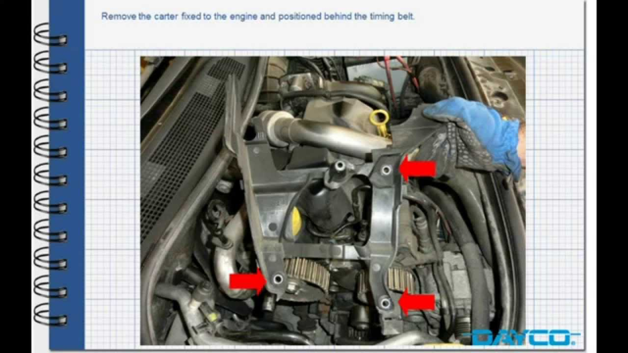 timing kit installation renault megane ii 1 5 dci engine k9k 732 youtube. Black Bedroom Furniture Sets. Home Design Ideas