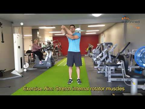 SHOULDER EXERCISES External Rotation Standing Stretch