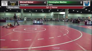1073 Schoolboy 77 Mitchell Neiner Washington vs Christopher Martino Idaho 8571135104