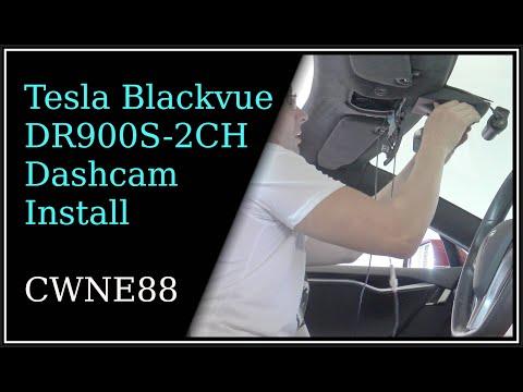 Tesla Blackvue DR900S-2CH Dashcam Installation