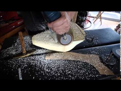 How To Sand And Shape Foam Rubber And Make A Motorcyle
