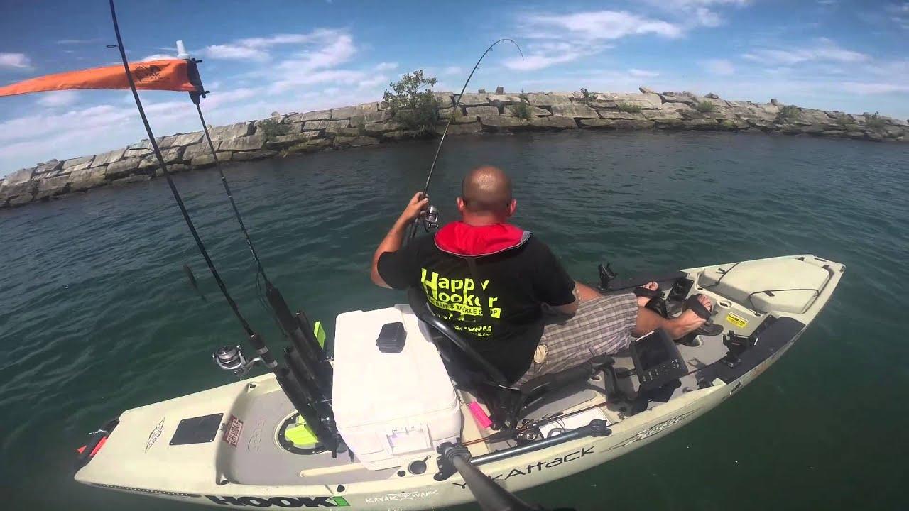 Lake erie smallmouth kayak fishing youtube for Youtube kayak fishing