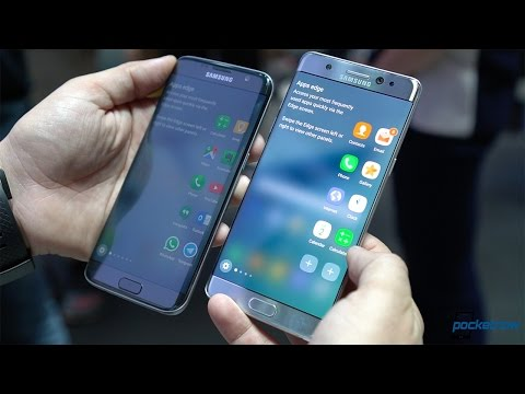 Samsung Galaxy Note 7 vs Galaxy S7 edge: Show floor comparison