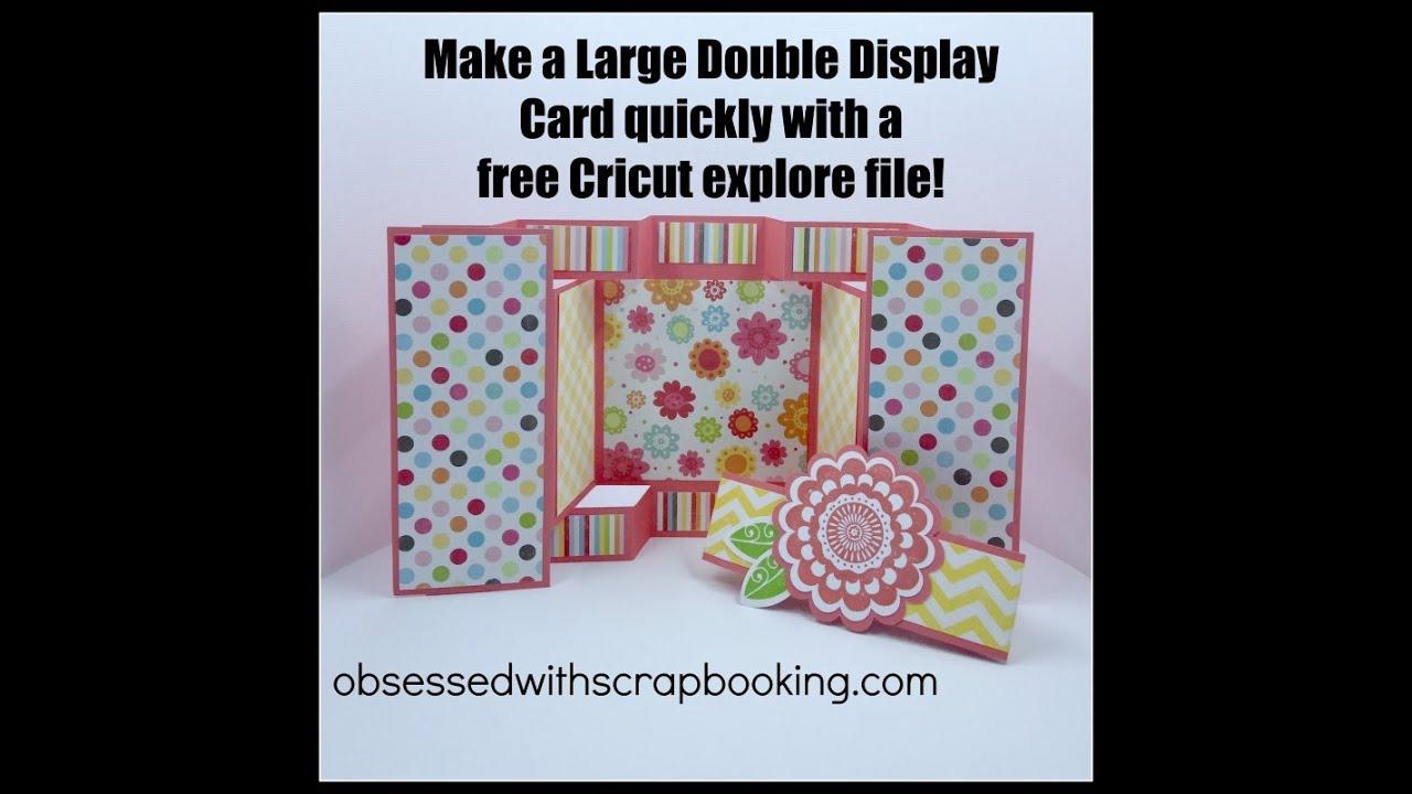 Cricut Large Double Display Card Youtube