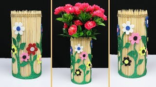 How to make a beautiful flower vase for home decoration | Home decorating ideas handmade
