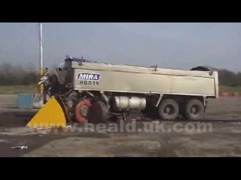 Heald Ltd 30 tonne truck Vehicle Barricade Road blocker HCR4M1200RB at MIRA FODEN impact test