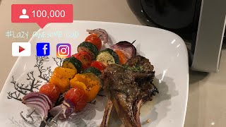 Roast Vegetables Skewers Grill Lamb Cutlets Recipe Philips Grill Master Kit Airfryer Xxl Hd9951 01 Youtube