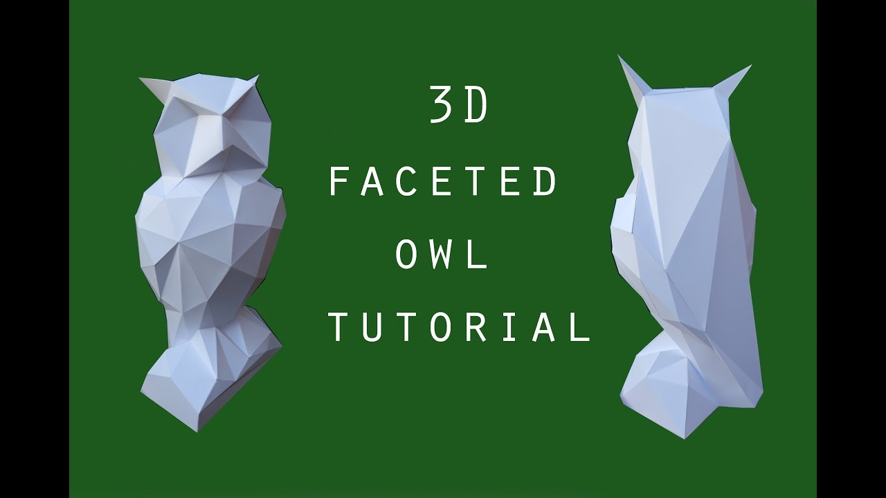 3d faceted owl papercraft tutorial dutchpapergirl youtube jeuxipadfo Choice Image