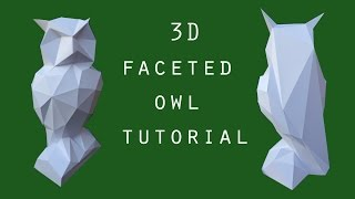 3d faceted owl - papercraft - tutorial - dutchpapergirl