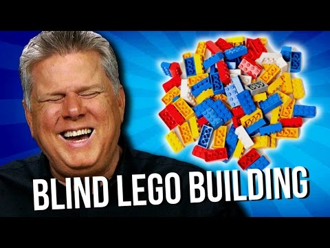 Blind Man Builds Things With LEGO Bricks