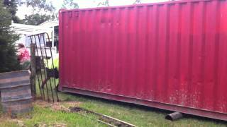 How to move a 40ft sea container