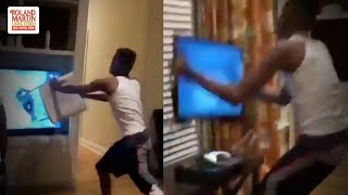 I Lost Too Much Money ...: Man Loses Bet On Warriors-Raptors Game, Loses More Money Wrecking His TV