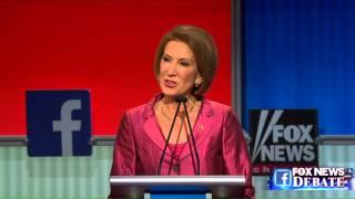 Carly Fiorina goes after Donald Trump at Fox News GOP debate.