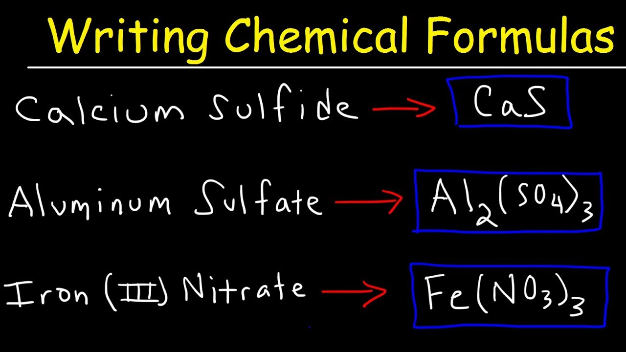 Writing Chemical Formulas For Ionic Compounds Polyatomic