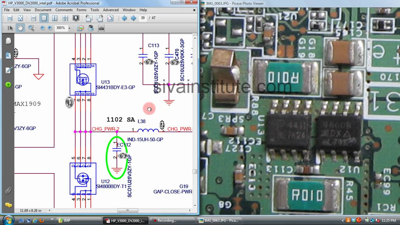 how to check not charging laptop repair (chip level).eng - youtube hp laptop wiring diagram  youtube