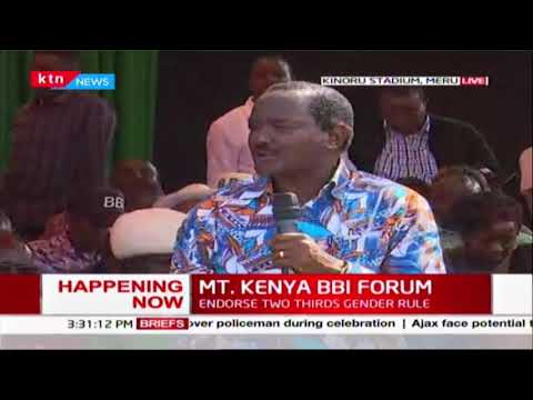 Kalonzo recounts events leading to South Sudan peace in relation to BBI | MT. KENYA BBI FORUM