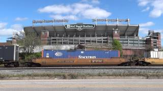 Baltimore Ravens Stadium w/ CSX Container Train