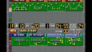 SNES Bill Walsh College Football Gameplay