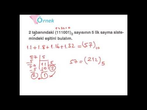 Ekol Hoca 9.Sınıf Sayı Sistemleri Konu Anlatımı Video çözümlü Soruları Test çözümleri