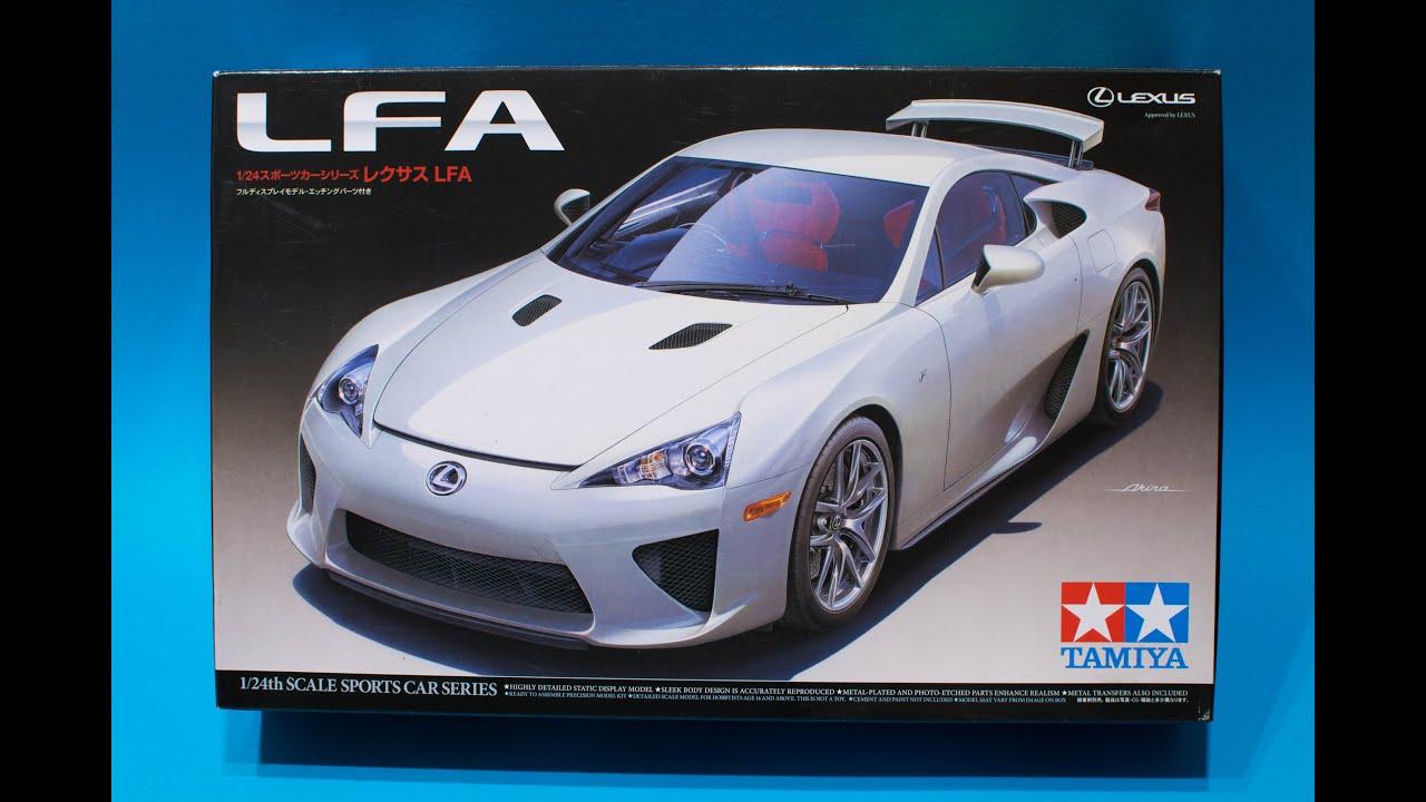 tamiya 1  24 lexus lfa model kit review
